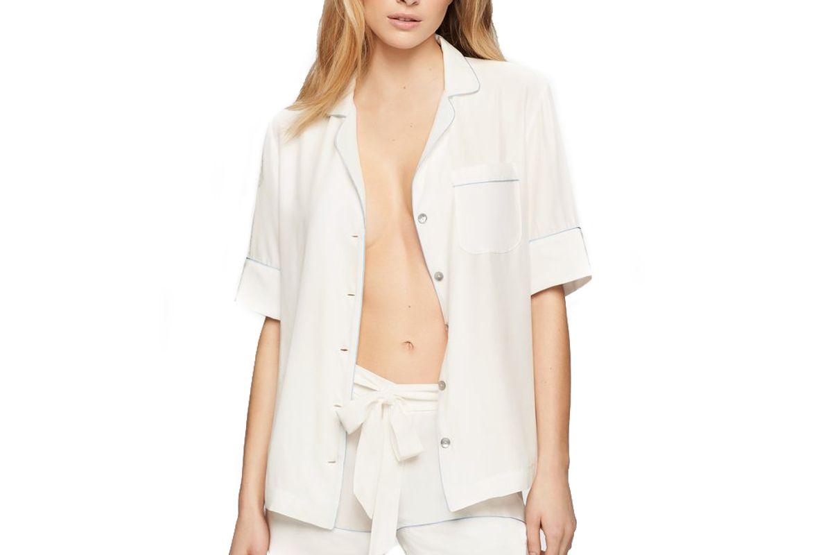kiki de montparnasse short sleeve silk pj top