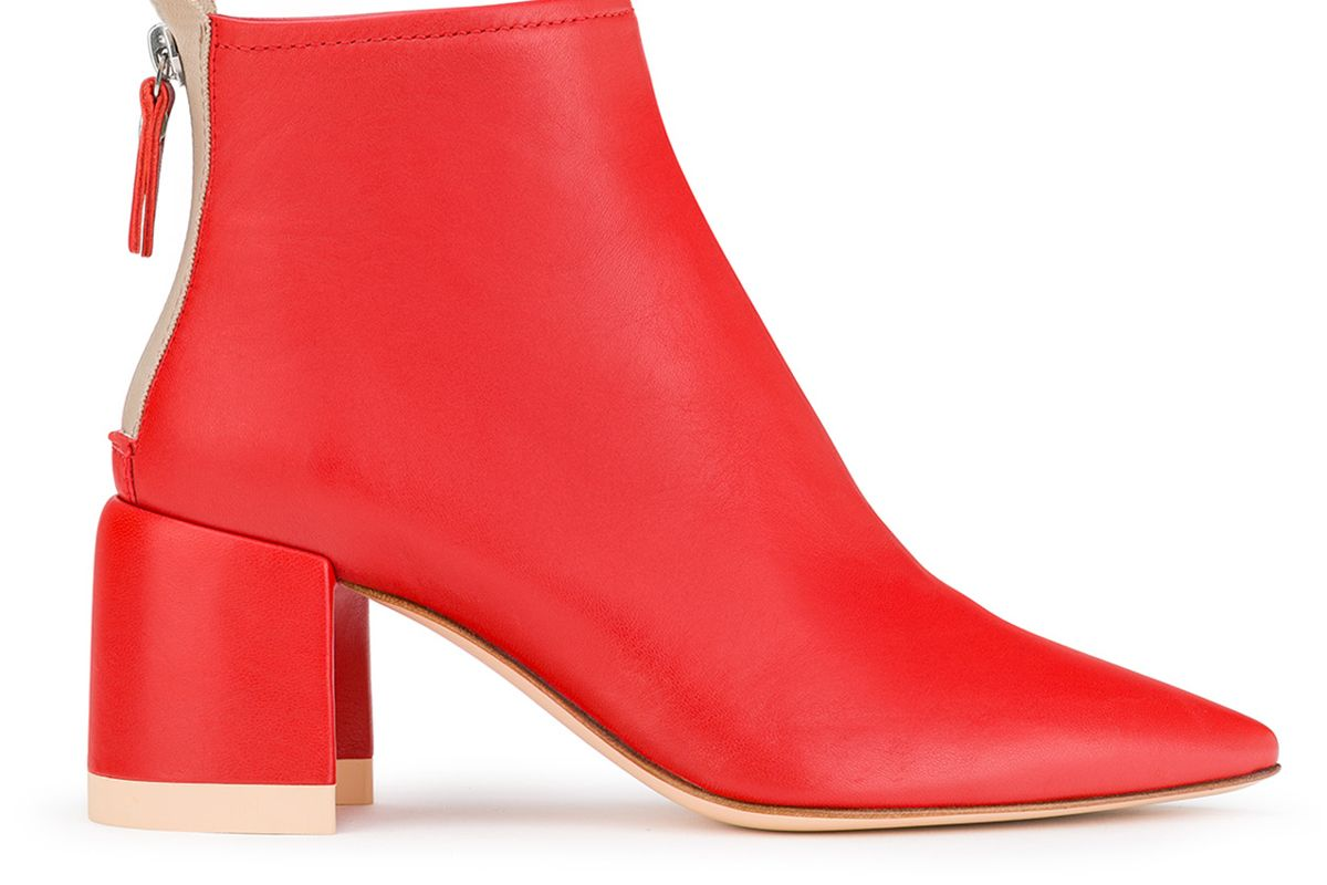 agl ankle boot with half moon heel