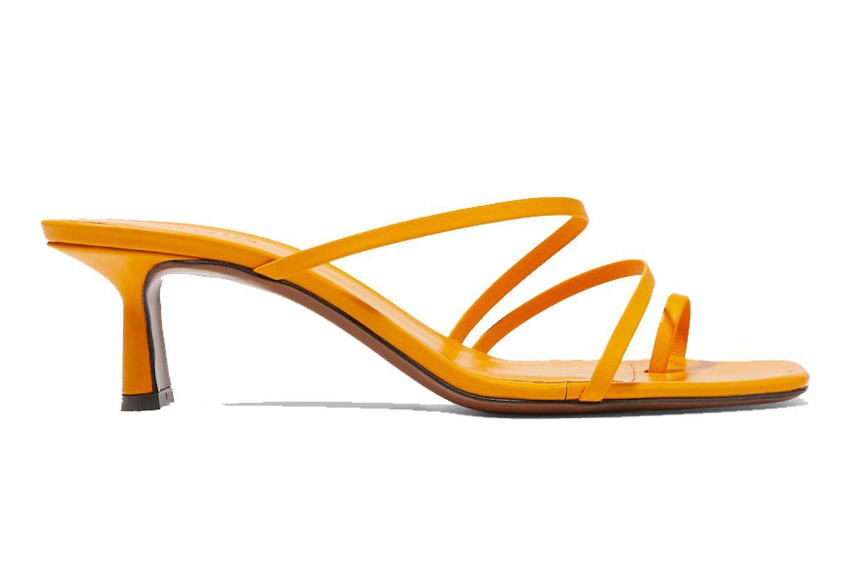 neous eranda leather sandals