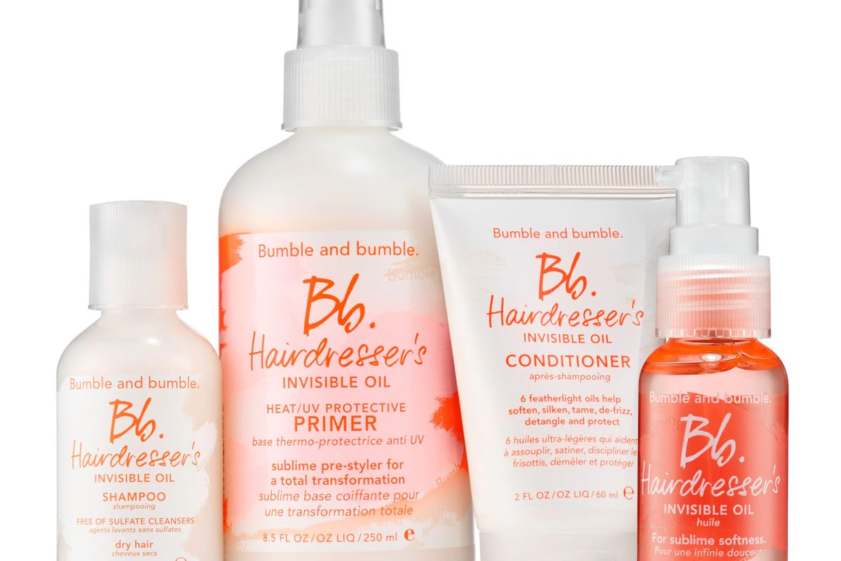 bumble and bumble spoil yourself best of hairdressers invisible oil set