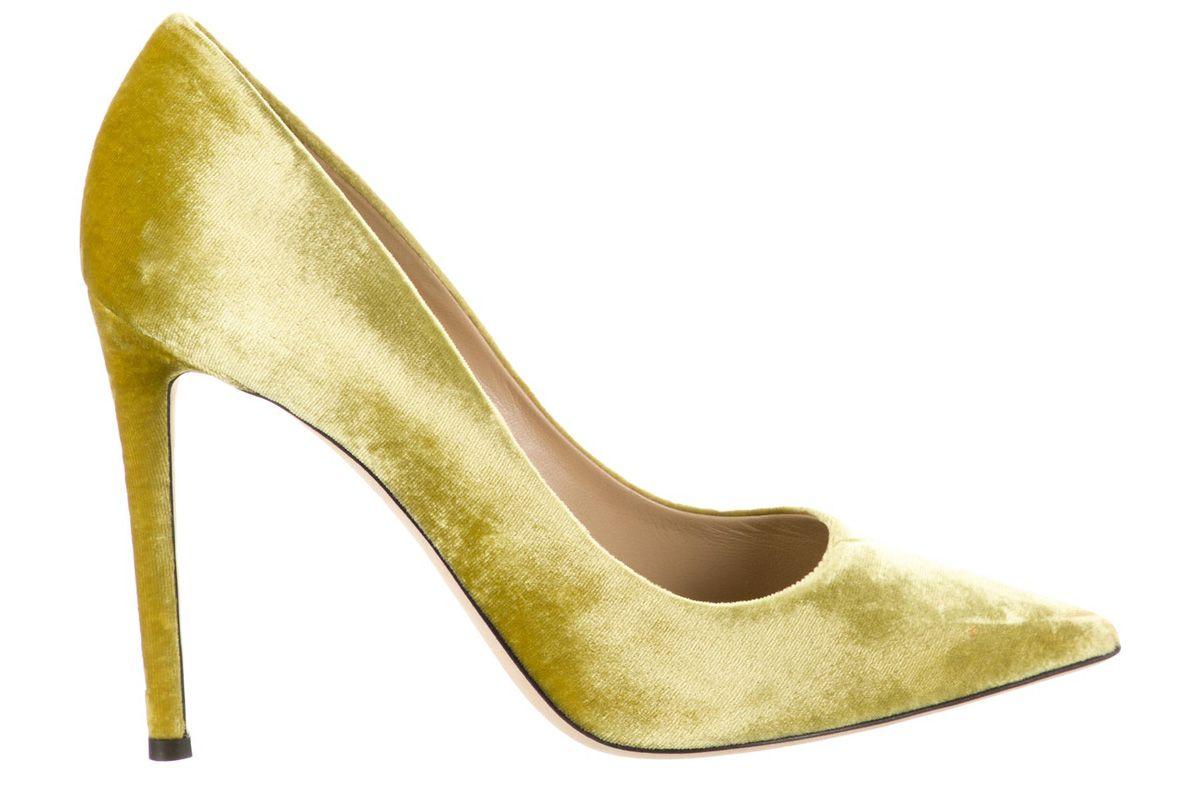tamara mellon velvet pointed toe pumps