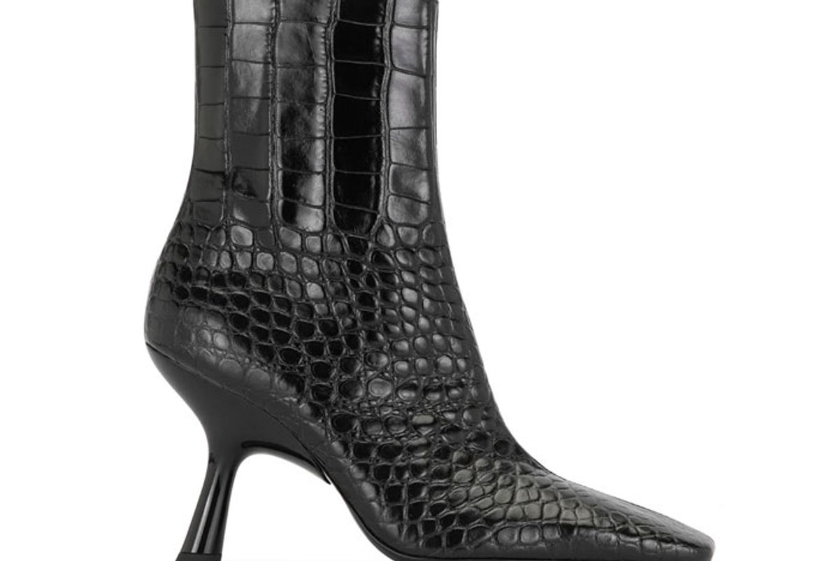 simon miller crocodile effect ankle boots