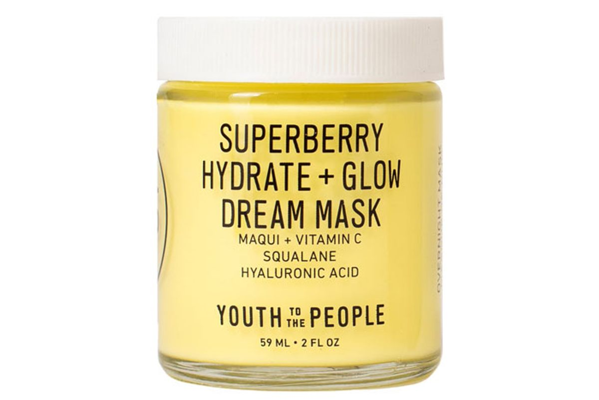 youth to the people superberry hydrate glow dream mask with vitamin c