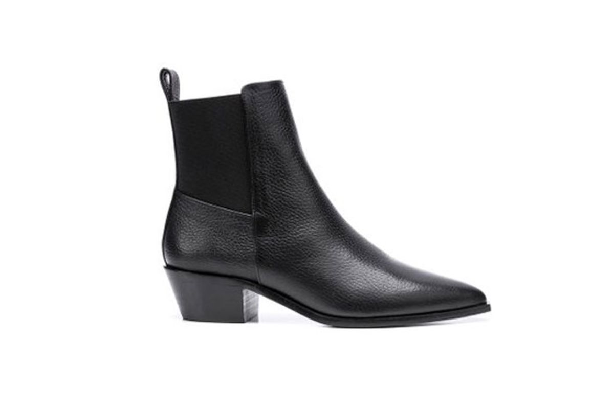 flattered willow leather ankle boots