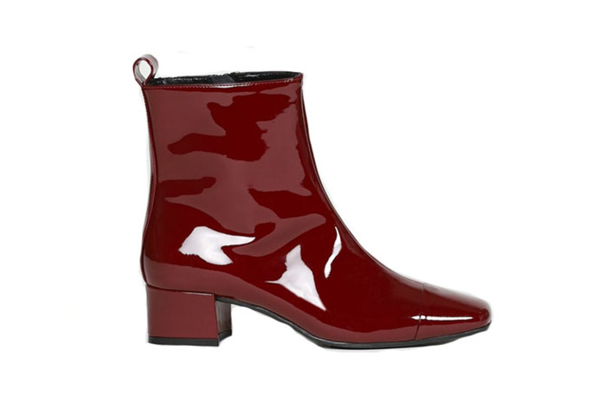 carel estime patent leather ankle boots