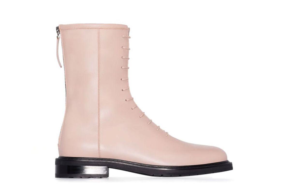 legres combat lace up boots