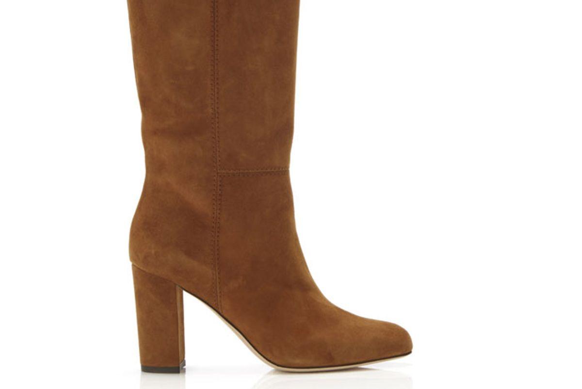 marion parke delila suede block heel mid calf boot