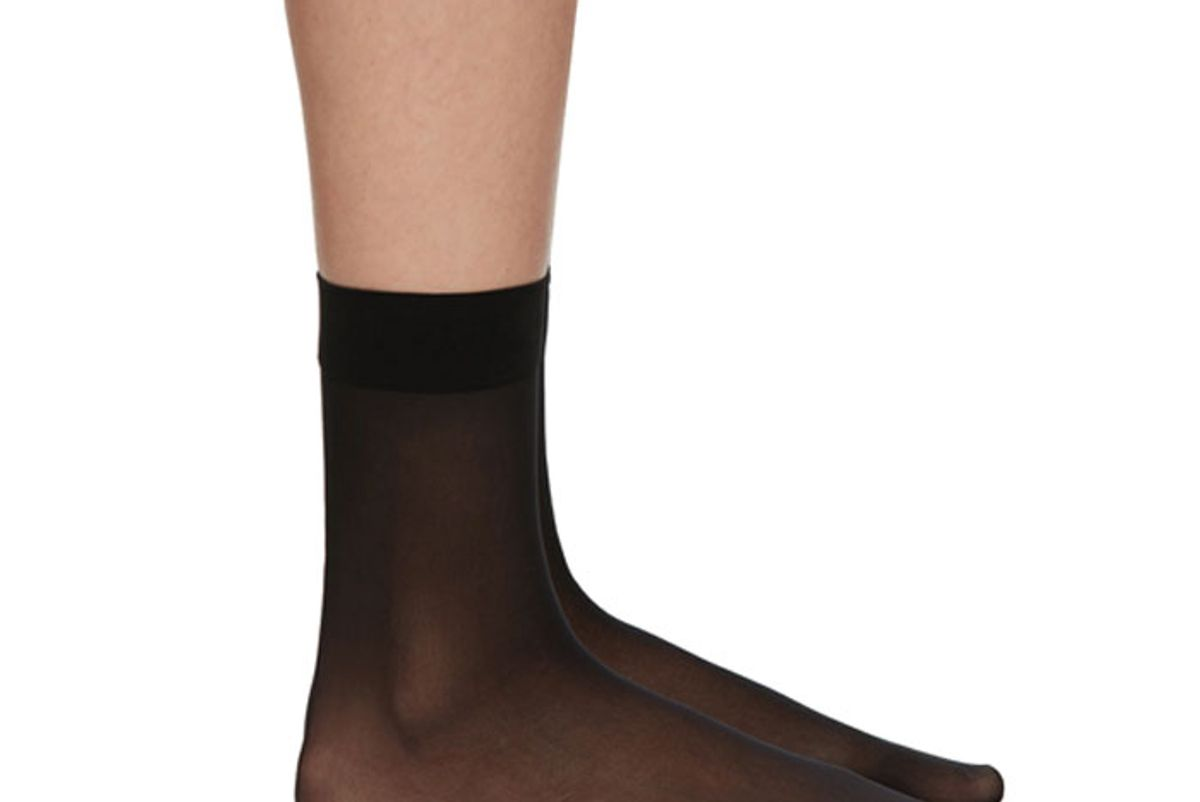 wolford individual 10 ankle high socks
