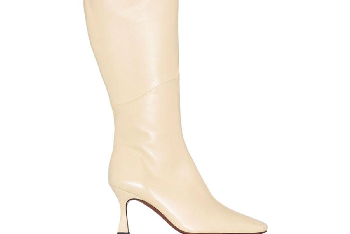 manu atelier duck 80mm knee high boots