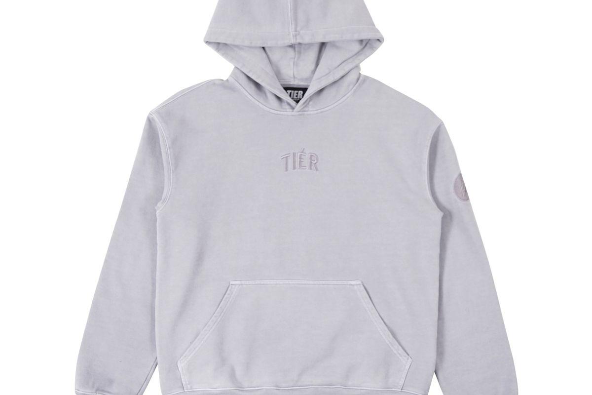 tier sleet grey hoodie