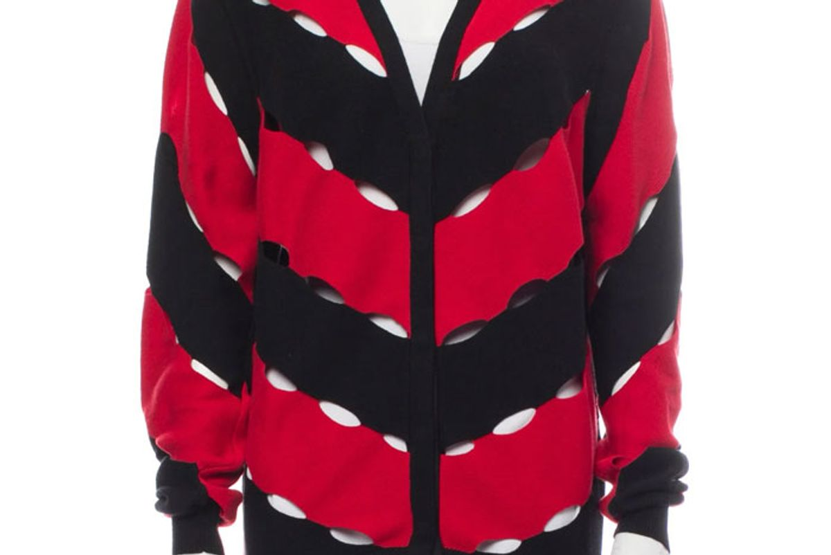 victor glemaud striped v neck sweater