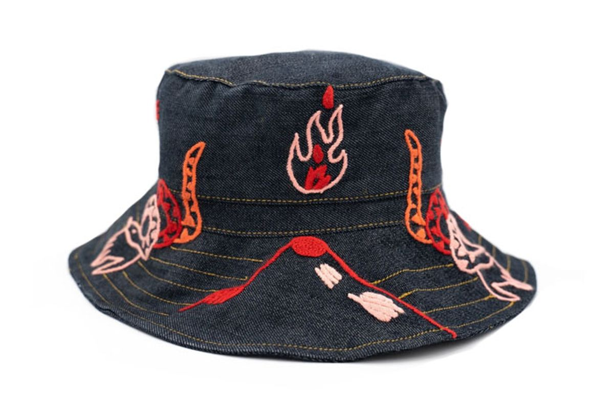 allpamamas fire spirit of creation bucket hat