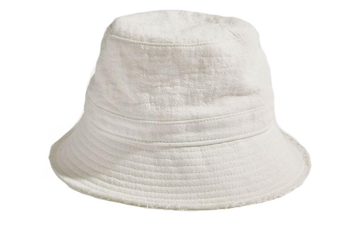 bassike raw textured bucket hat