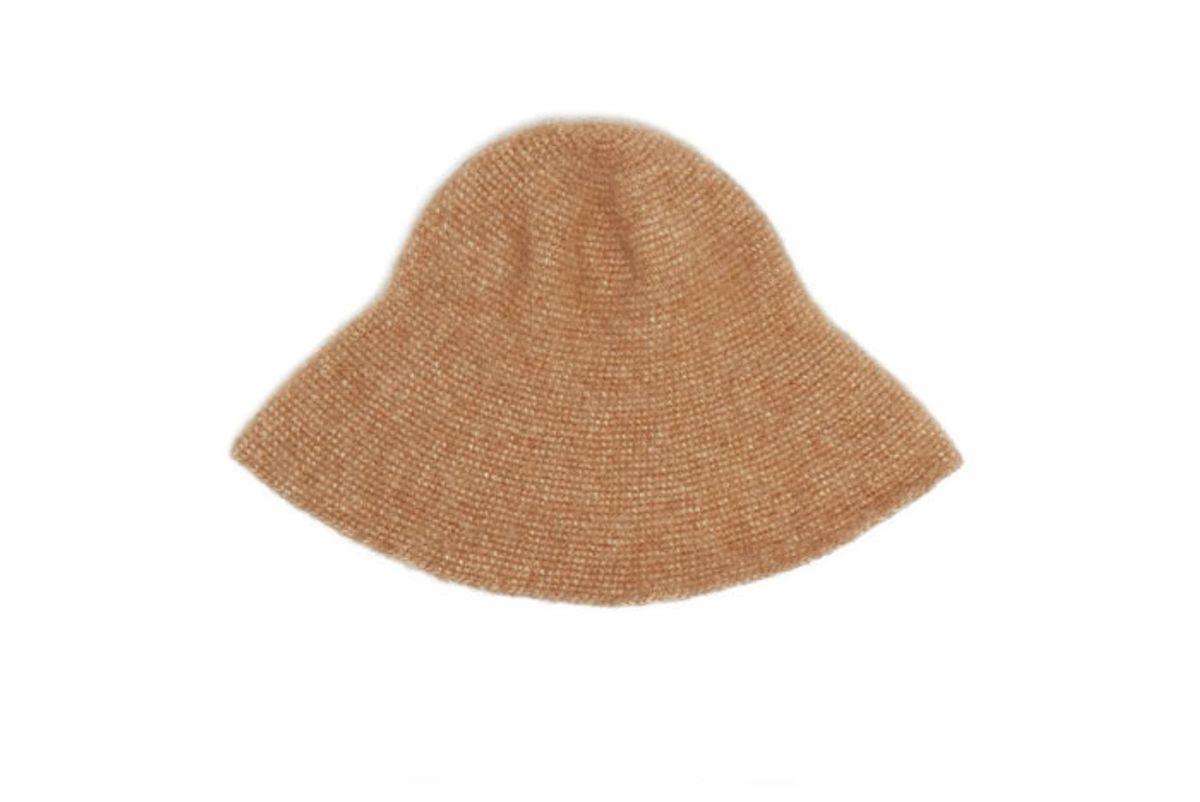 lauren manoogian cotton alpaca wool blend hat