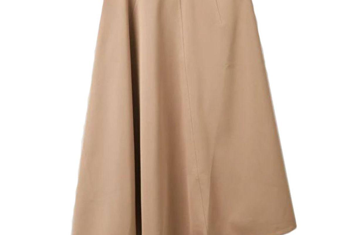 cos asymmetric a line skirt