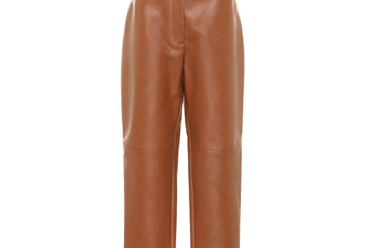 stella mccartney hailey faux leather straight pants