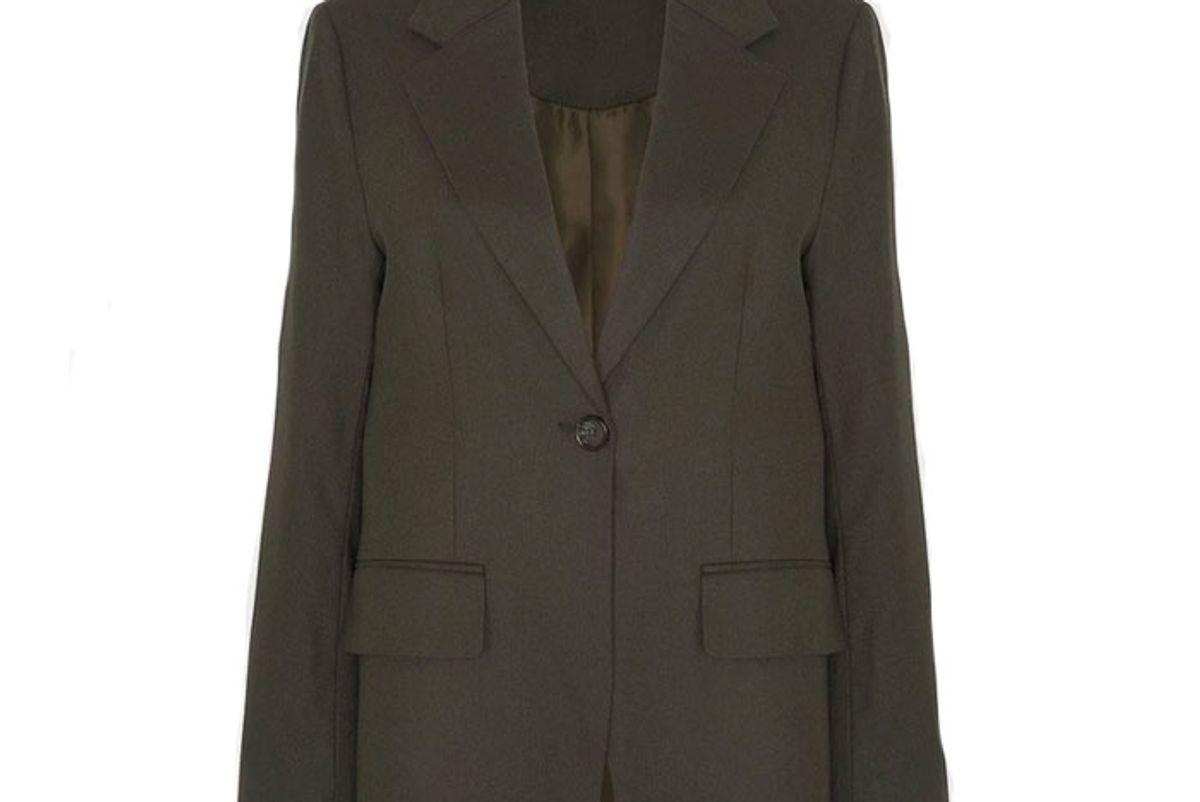 the frankie shop single button flat pocket blazer