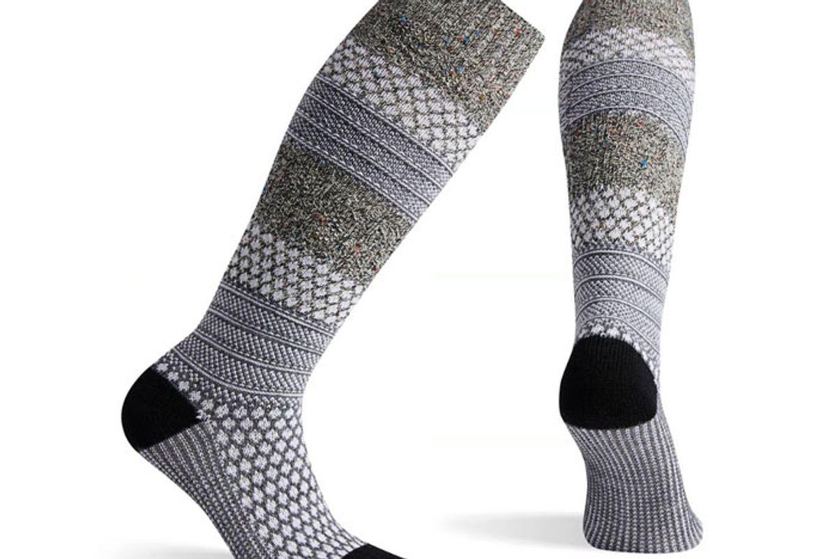 smartwool womens popcorn cable knee high socks