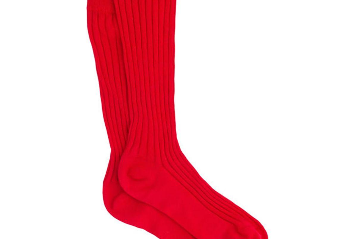 miu miu ribbed knit knee length socks