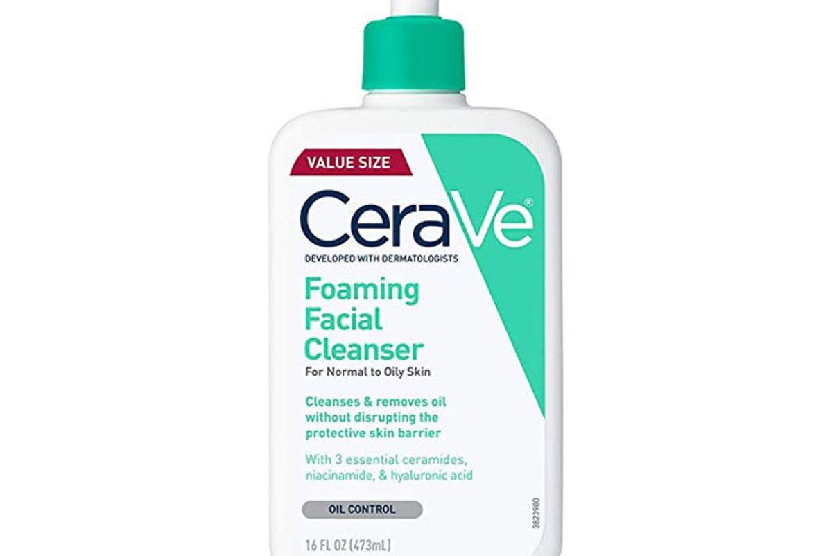 cerve foaming facial cleanser