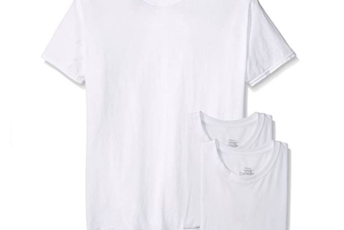 hanes mens 3 pack crew neck t shirts