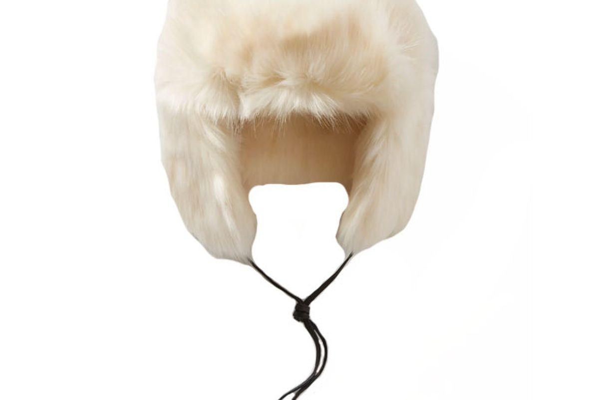 eugenia kim owen leather trimmed faux fur hat