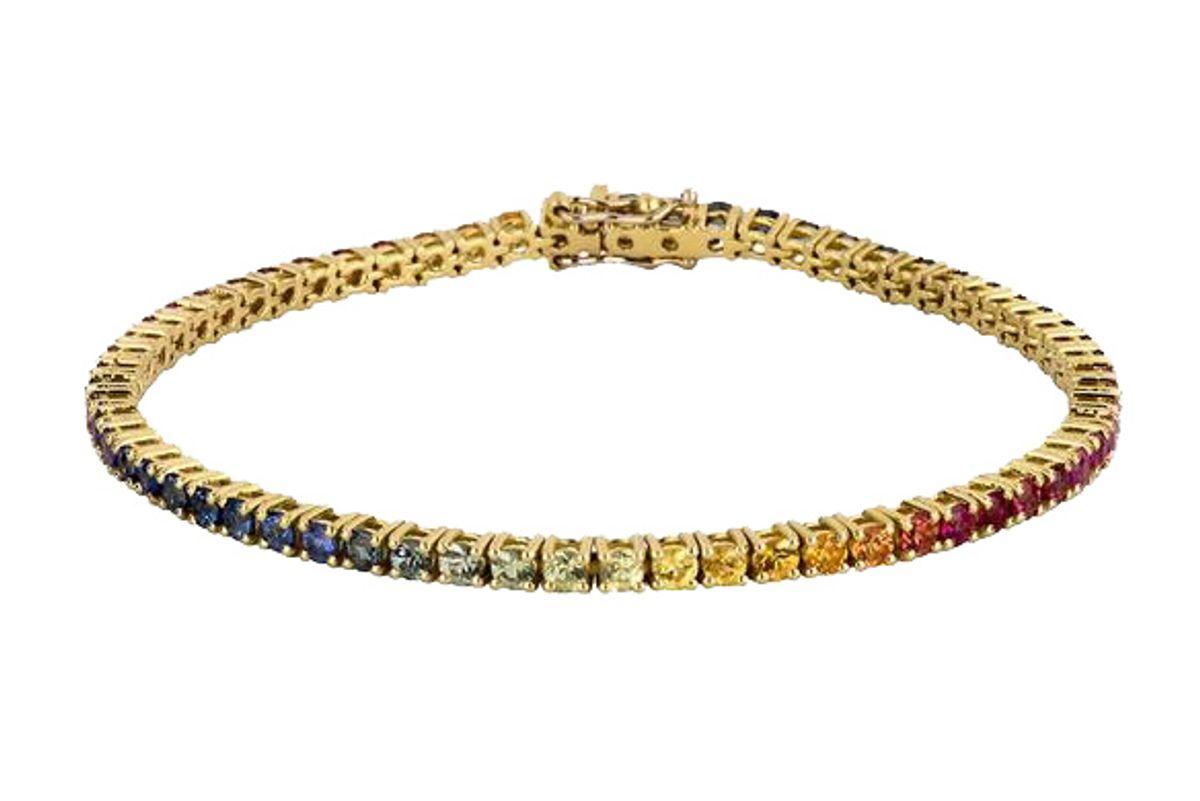 roxanne first rainbow sapphire tennis bracelet