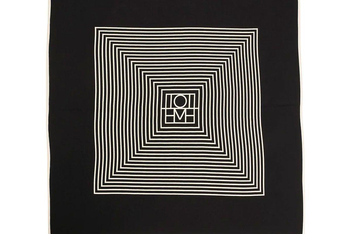 toteme stripe print scarf