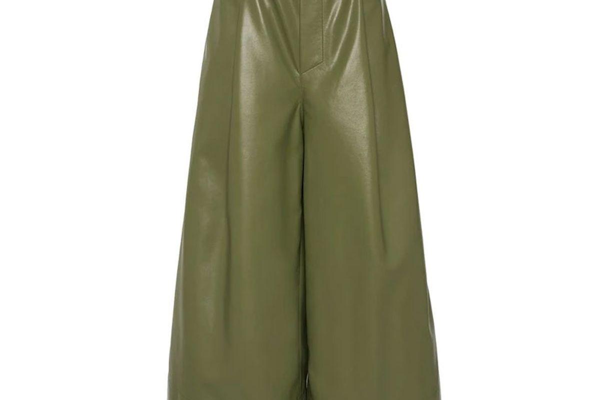 aeron moss violet elastic waist culottes