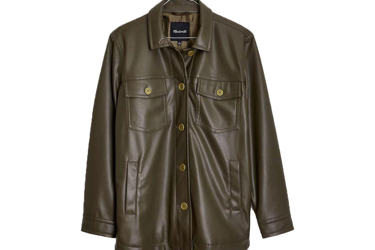 madewell vegan leather chore jacket