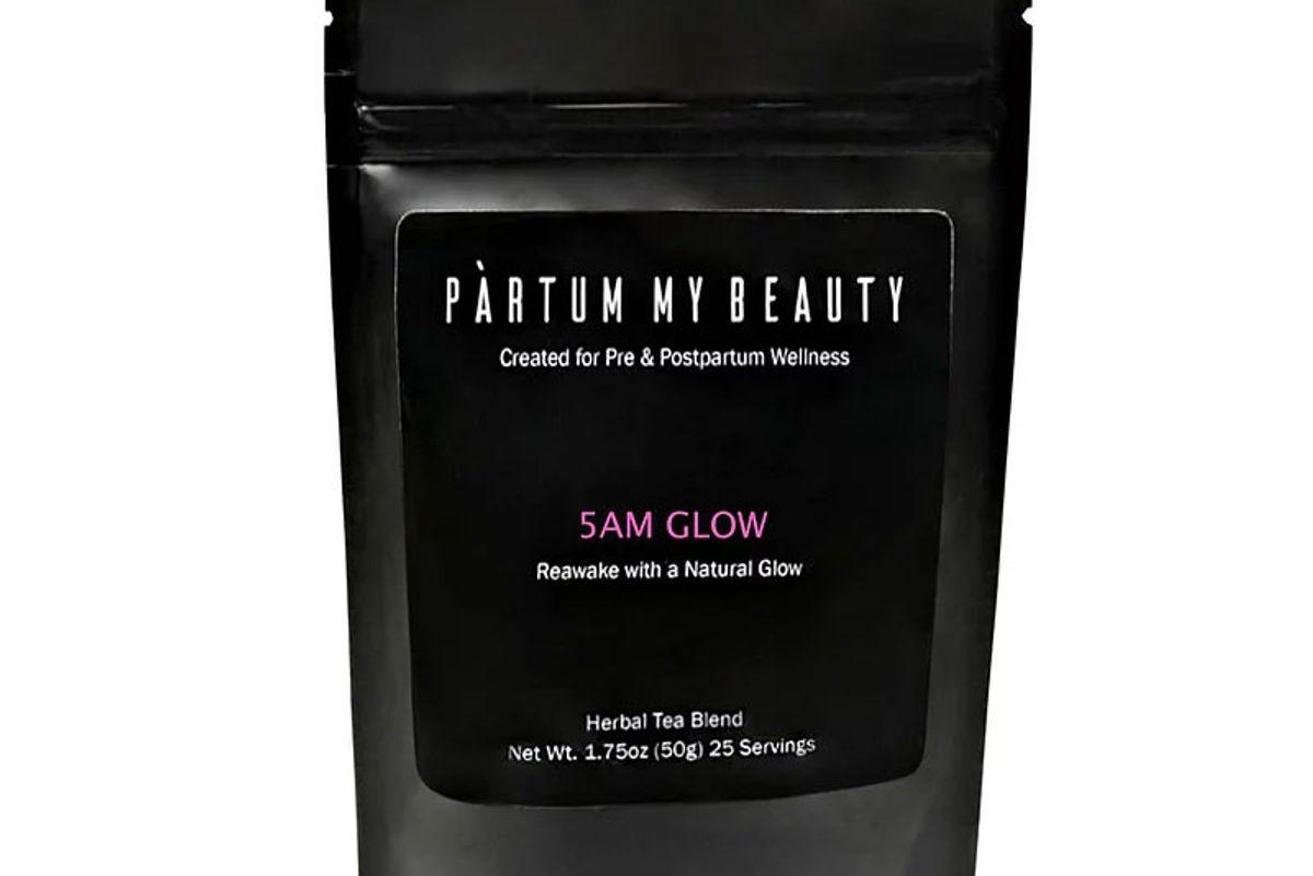 partum my beauty 5am glow tea