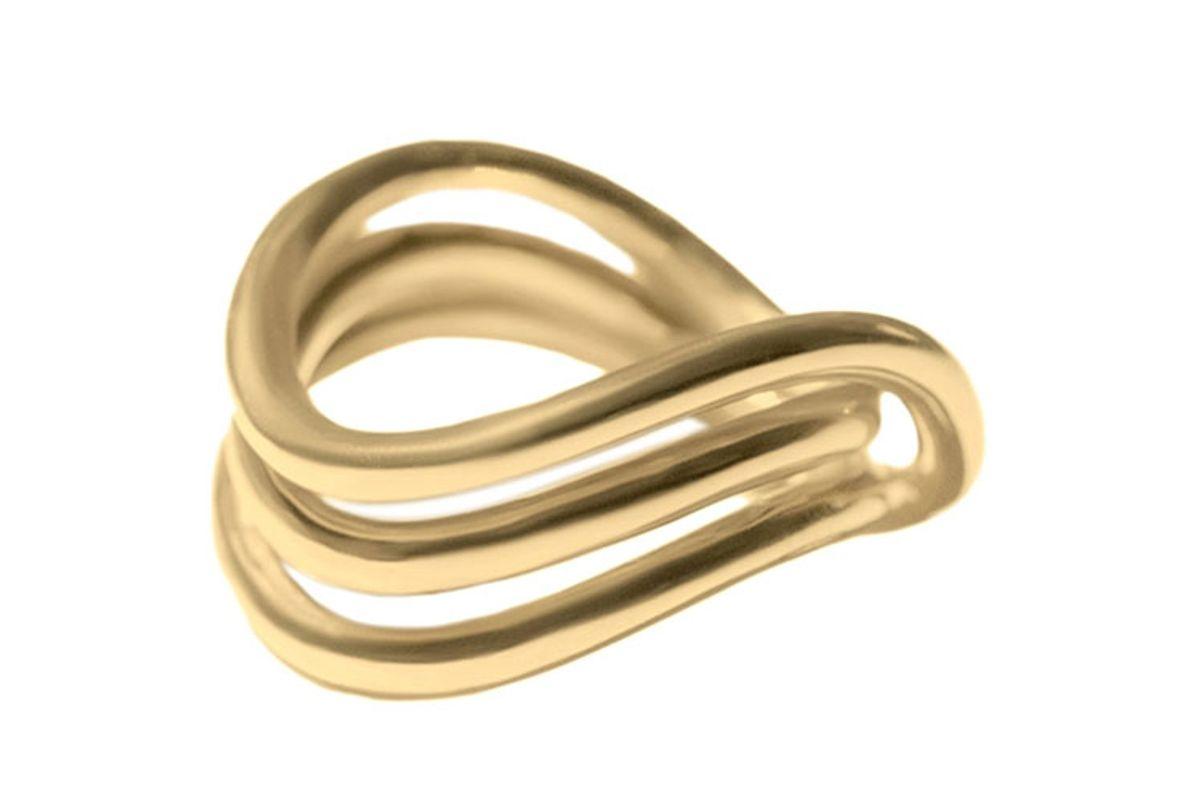 sapir bachar gold wave ring