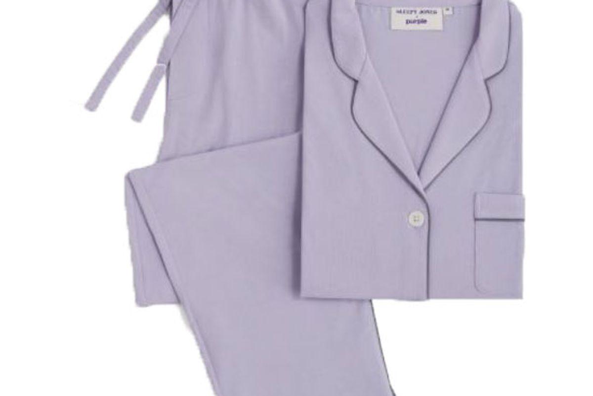 sleepy jones and purple pajamas