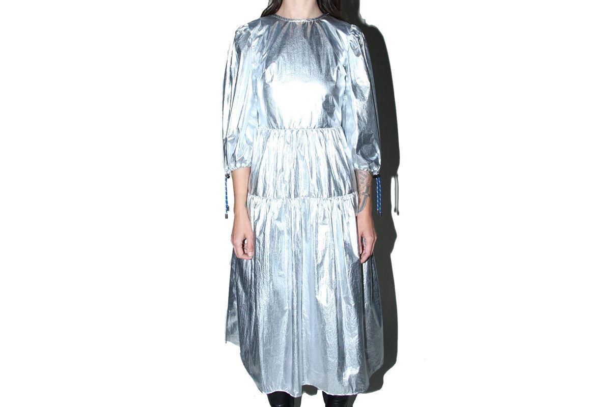 kkco hus dress in space foil