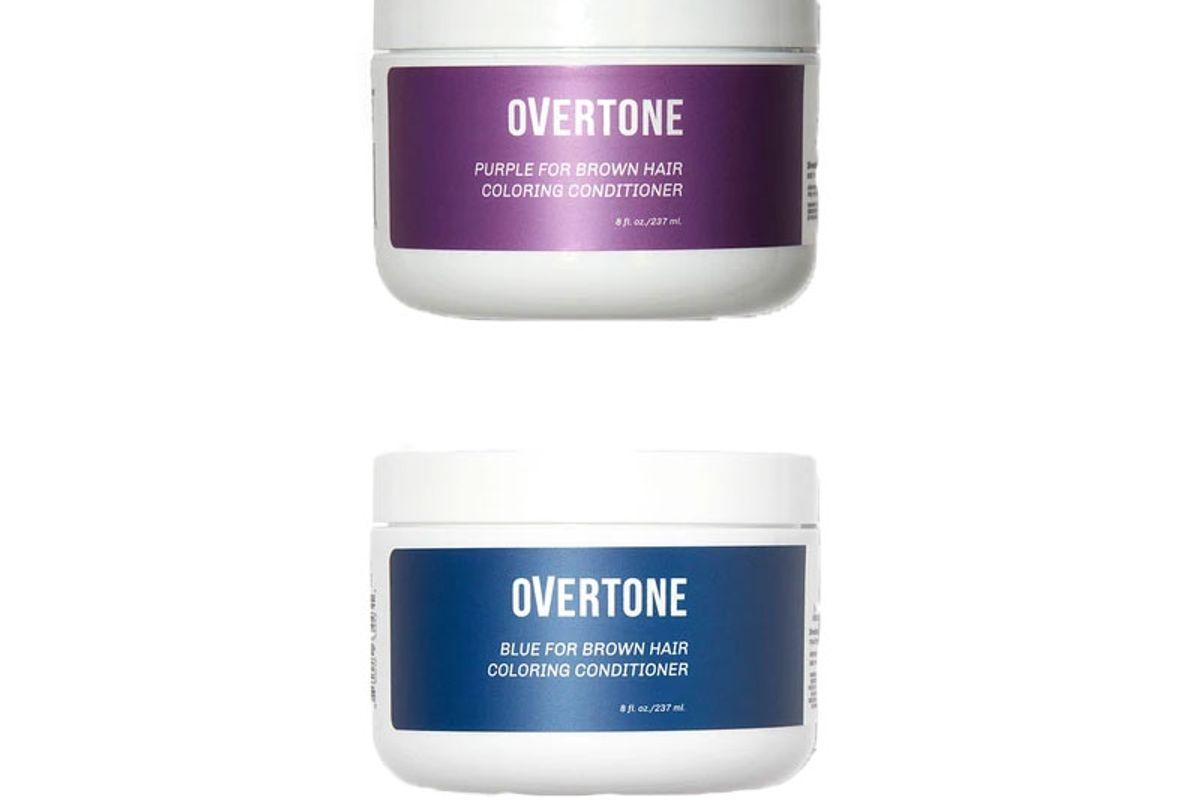 overtone indigo for brown hair conditioner kit