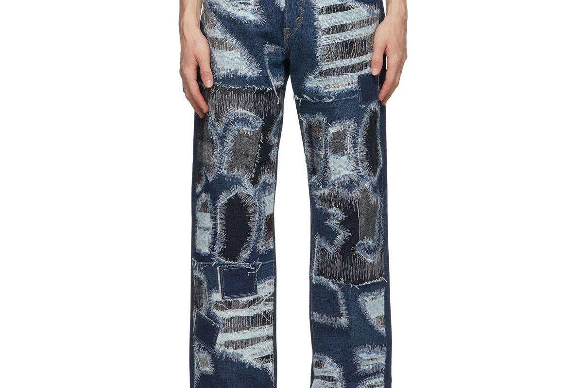 junya watanabe selvedge garment treated jeans