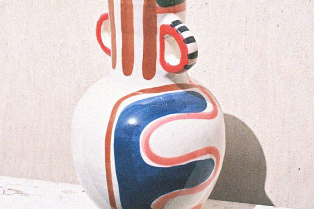 lrnce sefrou 1 hand painted ceramic vase