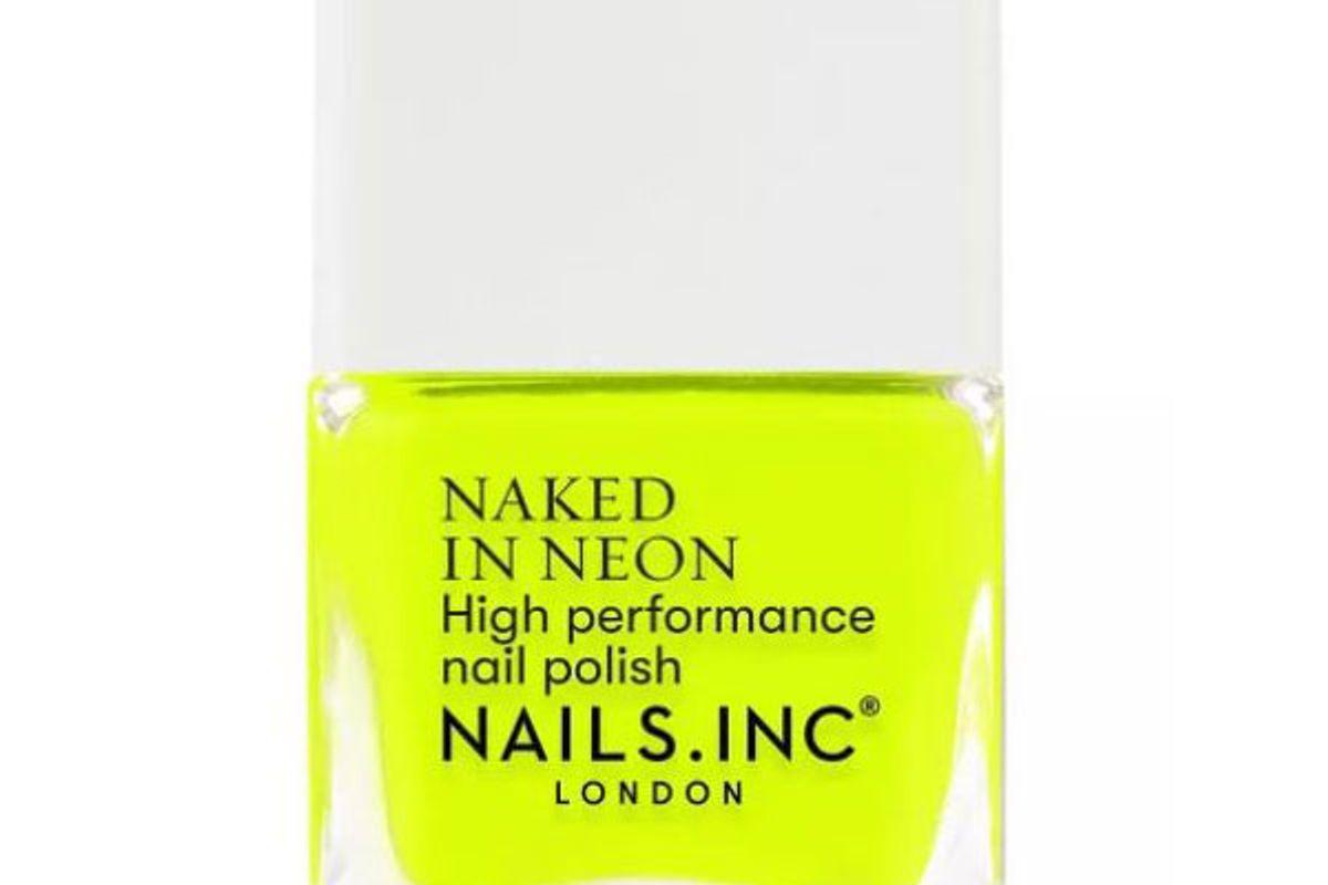 nails inc naked in neon nail polish