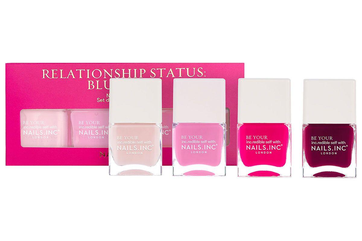 nails inc relationship status blushing nail polish set