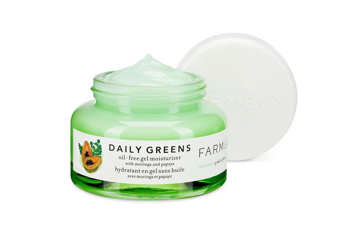 farmacy daily greens oil free gel moisturizer with moringa and apaya