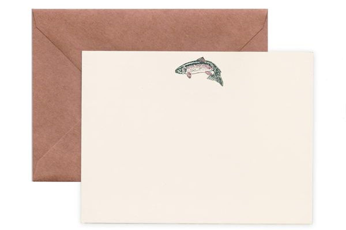 terrapin rainbow trout note cards