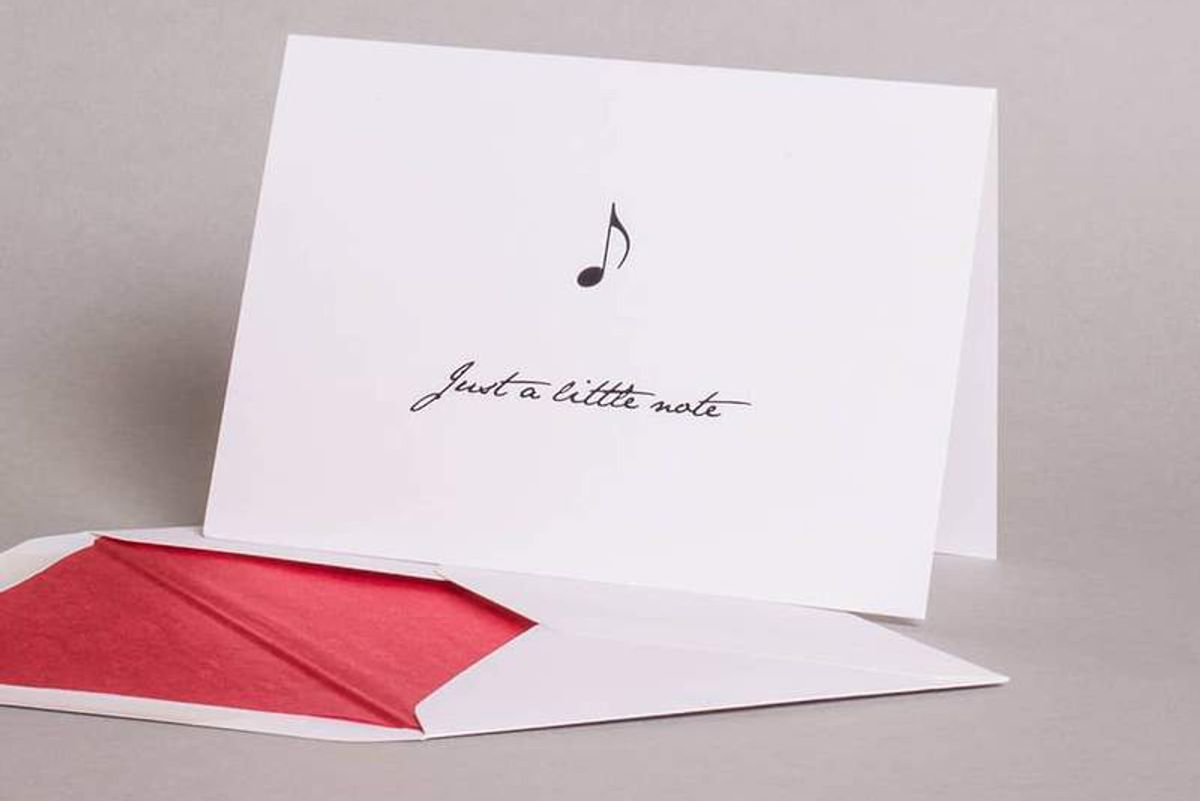 mount street printers just a little note correspondence cards