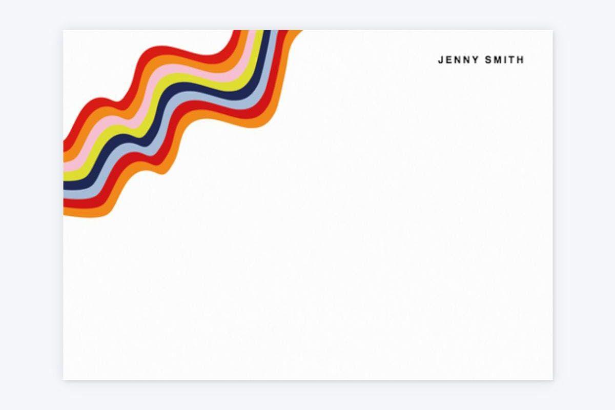 house of holland rainbow waves notecard set