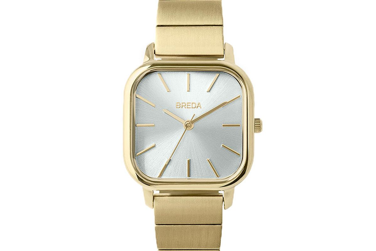 breda gold plated esther watch