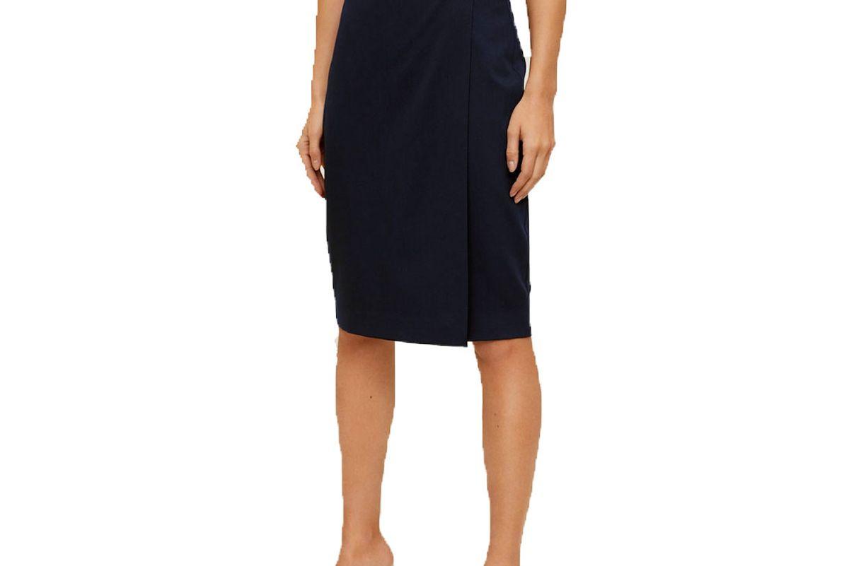 mango crossed pencil skirt
