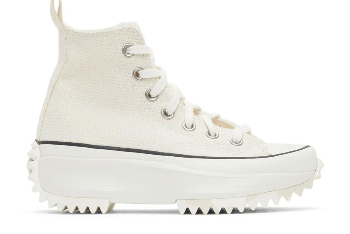 converse marble run star hike high sneakers
