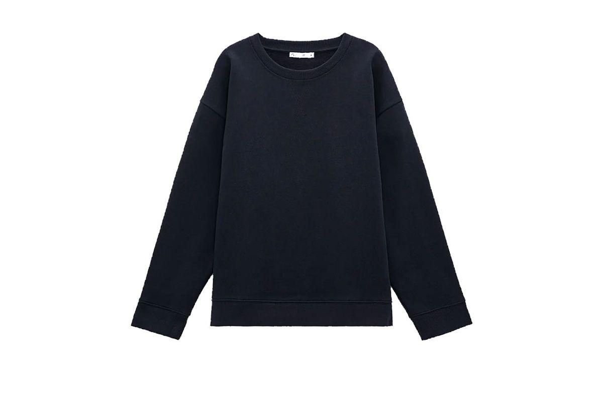 zara rustic cotton sweatshirt