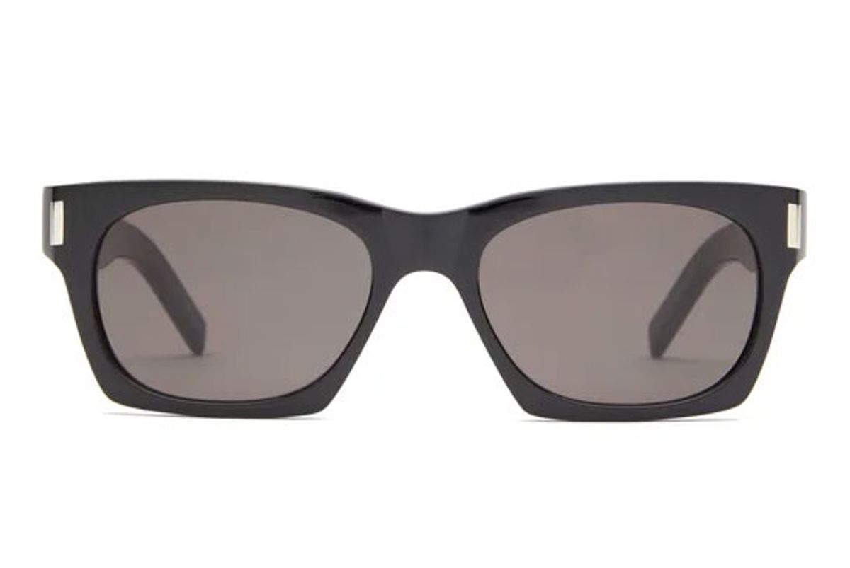 saint laurent rectangular acetate sunglasses