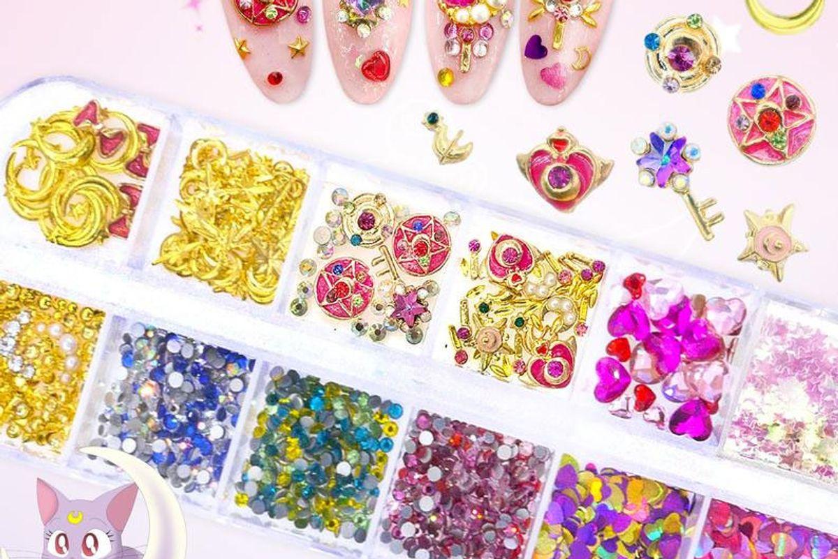 nail queen nyc sailor moon nail art rhinestone nail crystals