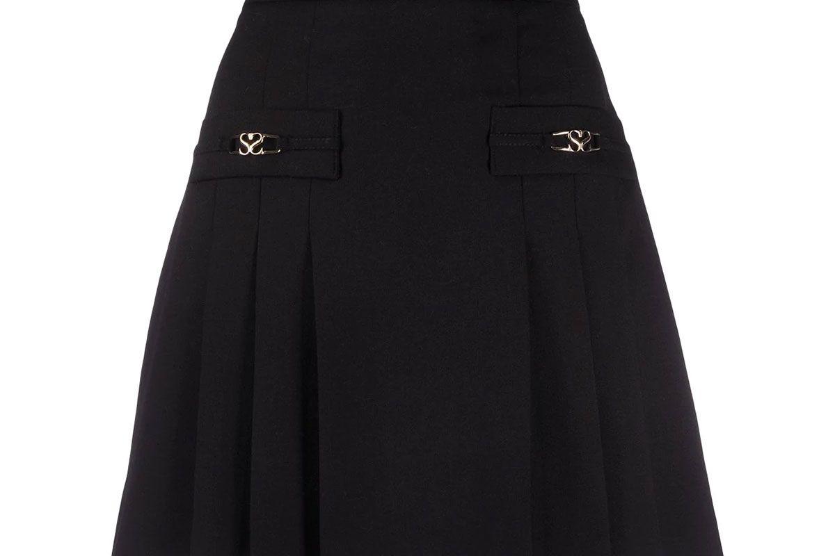 sandro paris pleated mini skirt